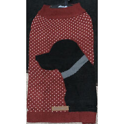 Eddie Bauer Pet Red Sweater Size Large Dog New With Tags