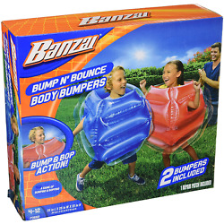 Kids Body Inflatable Bubble Ball Suit Bumper Game Outdoor Toys 2pc