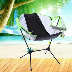 US_Outdoor Equipment Stargaze Recliner Luxury Camping Chair w/Pillow and Pockets