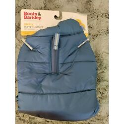 Boots And Barkley Dog Puffer Jacket Dark Blue Small