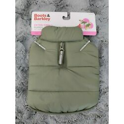 Boots And Barkley Dog Puffer Jacket Extra-Small Olive Green