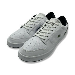 Lacoste Mens White Black Master Cup 120 2 SMA Fashion Sneakers Size US 11.5