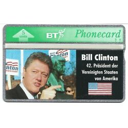 5u Bill Clinton 42nd President of The U.S.A. MINT Phone Collectible Trading Card