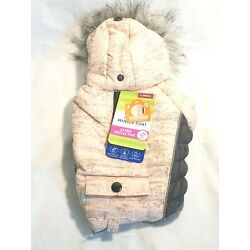 NEW Top Paw Pink & Gray Insulated Hooded Dog Coat X Small NWT FREE SHIPPING