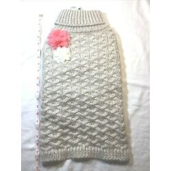 NWT TOP PAW Dog Sweater Size  Large L Cable Knit Pullover Flowers Cream - NEW!