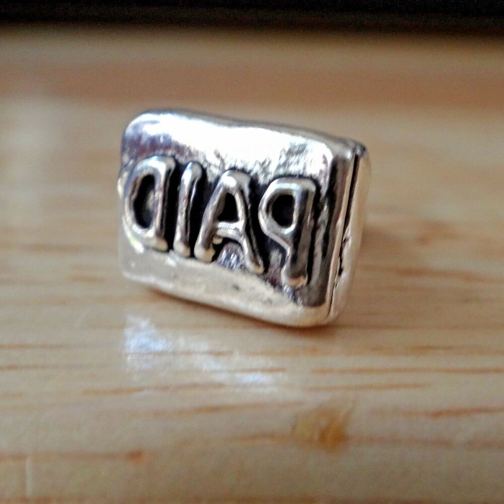 Sterling Silver 3D 13x10x8mm Mark Invoice Paid with Rubber ...