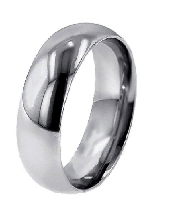 LOWEST PRICE FOR 1 8 MM THICK DOMED PLATINUM 6MM WIDE WOMEN WEDDING BAND RING