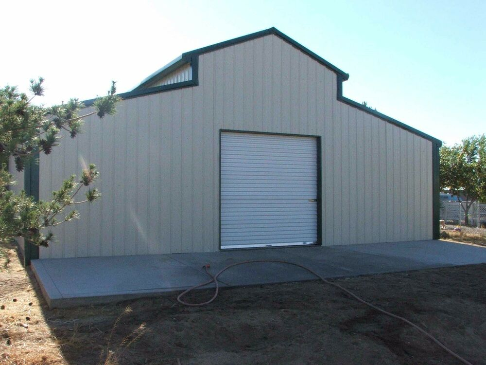 Steel metal american barn prefab building kit workshop for Barns garages