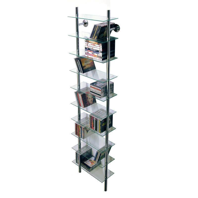 Wall Mounted Glass Cd Storage Shelves Ch1530 Ebay