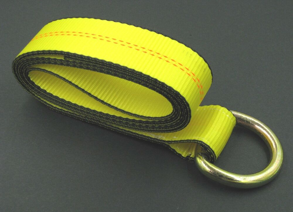 Vehicle Tow Straps : Lasso strap wrecker car hauler truck tow dolly tire