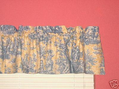 Waverly Yellow Amp Blue French Country Life Toile Valance