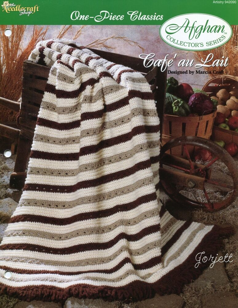Cafe au Lait Afghan, One-Piece Classics crochet pattern eBay