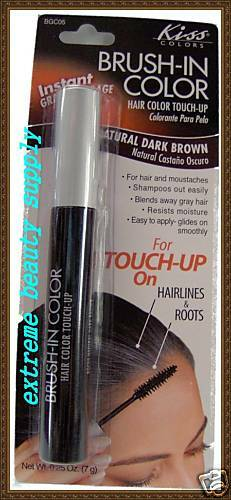 Brush In Touch Up Temporary Color Hair Mustache Cover Gray