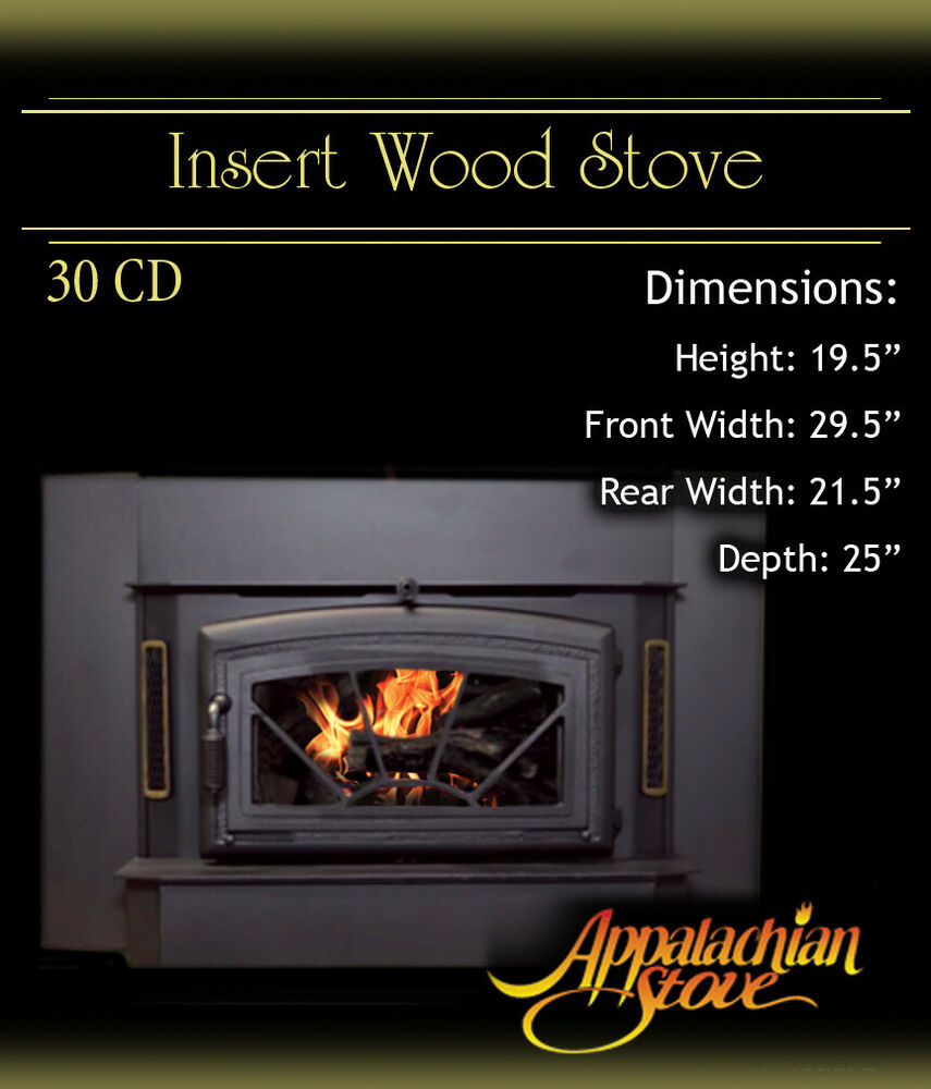Appalachian 30 Cd Insert Wood Stove Fireplace Trim Kit Ebay