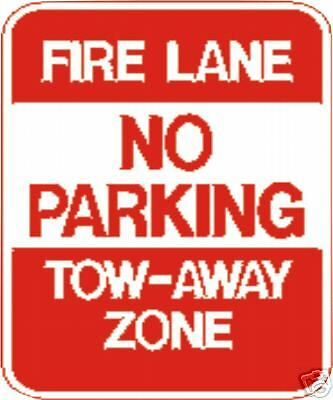 real fire lane no parking tow away street traffic signs ebay. Black Bedroom Furniture Sets. Home Design Ideas