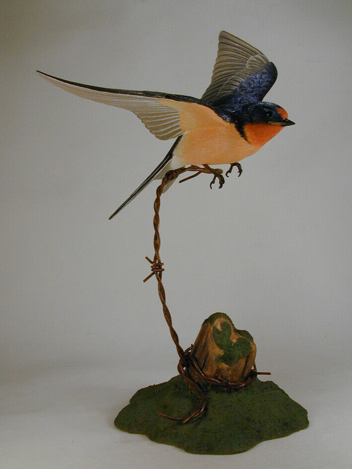 Barn swallow original wood carving ebay