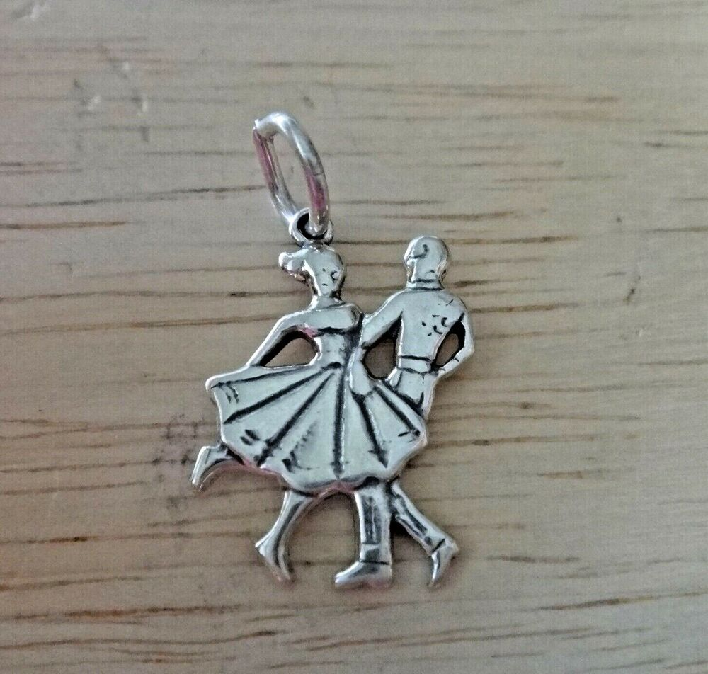 1 Sterling Silver 19x13mm Small Couple Dancing Ballroom Dance Charm | eBay