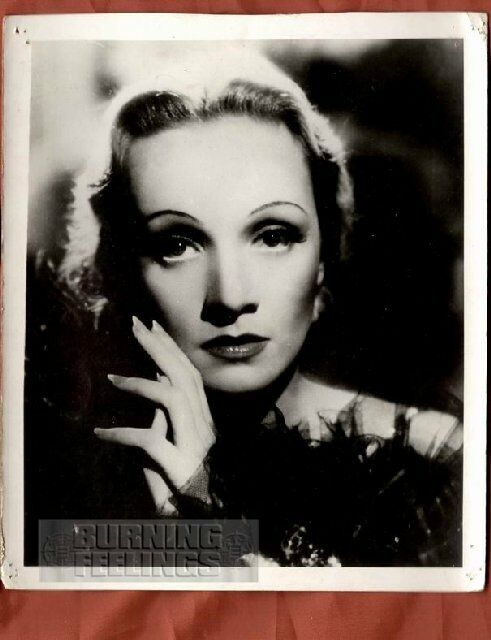 marlene dietrich portrait german 8x10 vintage photo ebay. Black Bedroom Furniture Sets. Home Design Ideas