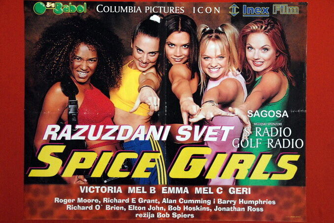 Movie Posters 1997: SPICE GIRLS SPIERS 1997 RARE EXYU MOVIE POSTER