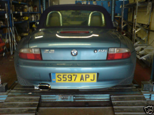 bmw z3 2 0 2 8 stainless steel exhaust system fitted ebay. Black Bedroom Furniture Sets. Home Design Ideas