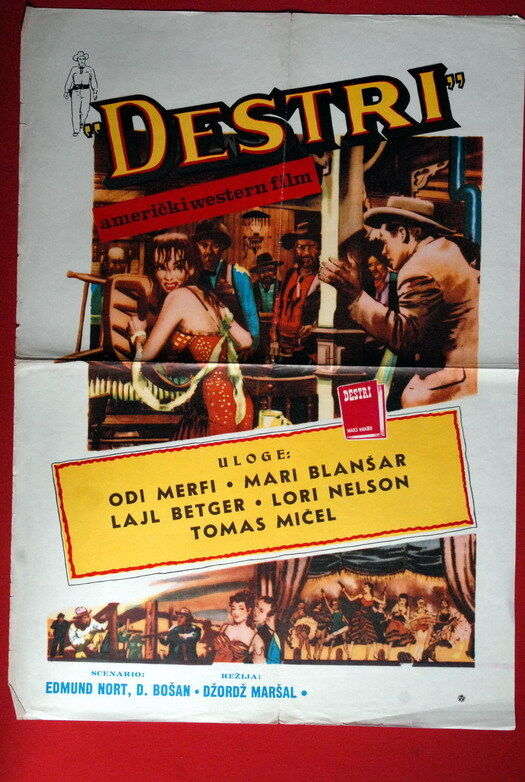 Destry Audie Murphy Western 1960 S Rare Exyu Movie Poster