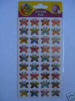 5 Sheets - Sticker Fun - BUTTERFLIES FUNKY
