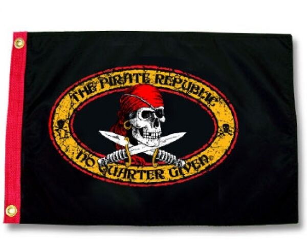 Pirate Republic Boat Flag 12x18 Quot Pirate Jolly Roger Ebay