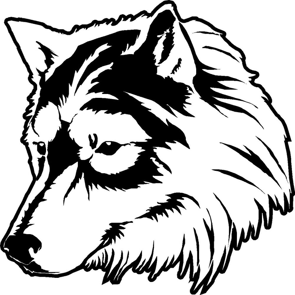 Wolf Head Car Bike Truck Window Sticker Graphic Decal
