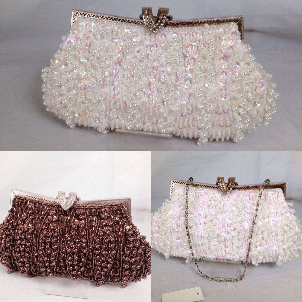 UK - Ladies Wedding Guest Beaded Sequin Evening Prom Party Clutch Bag 5418 | EBay