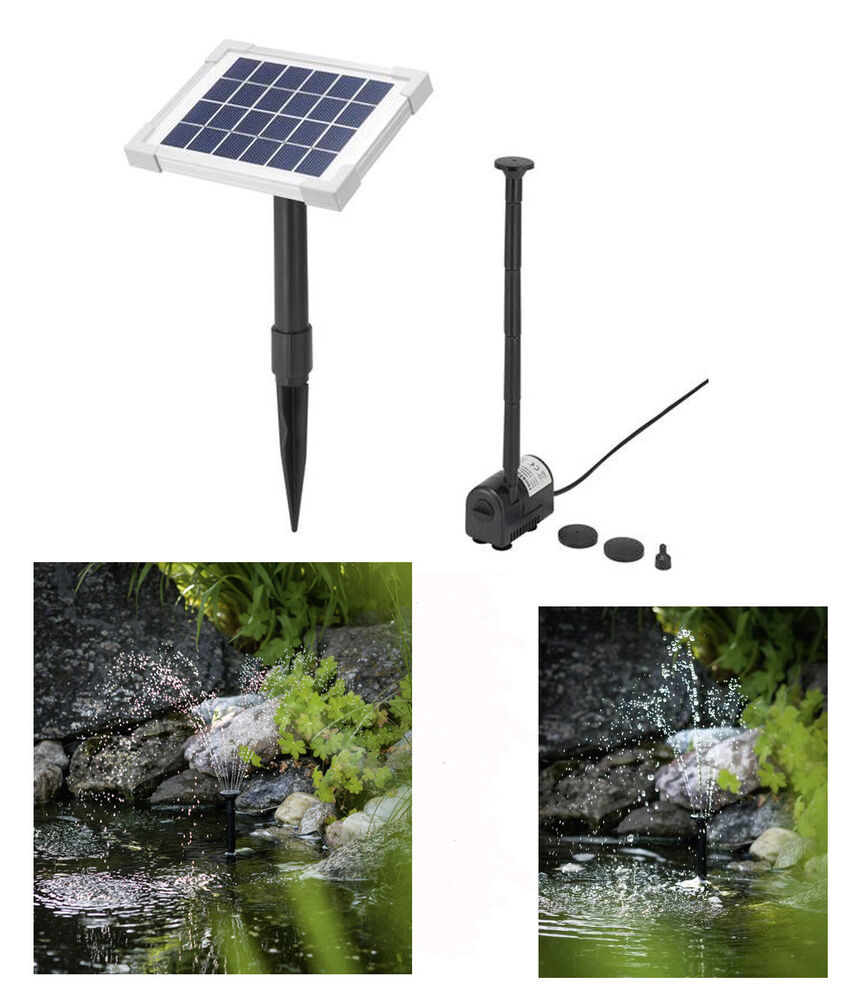 2 watt solarpumpe springbrunnen solar pumpenset teichpumpe. Black Bedroom Furniture Sets. Home Design Ideas