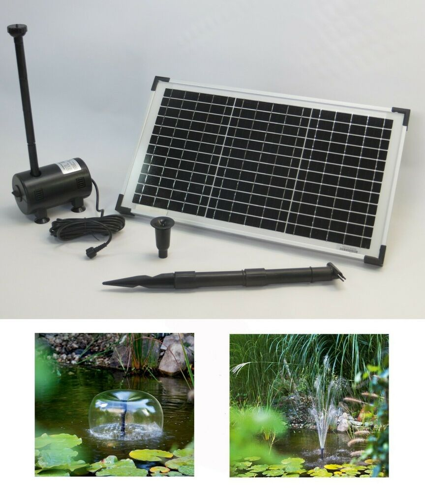 15w solarpumpe solar teichpumpe tauchpumpe gartenteich pumpe bachlauf garten neu ebay. Black Bedroom Furniture Sets. Home Design Ideas