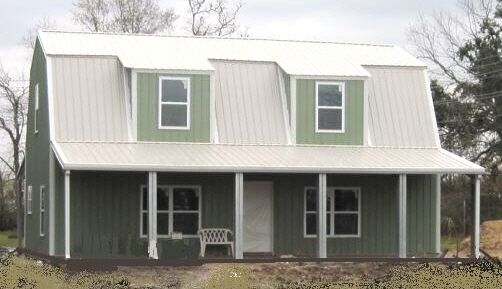 Steel metal gambrel home building shell kit 2 floor 2720 for Gambrel roof metal building