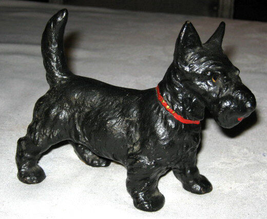 Antique hubley scotty dog doorstop cast iron home statue toy terrier door stop ebay - Cast iron dog doorstop ...