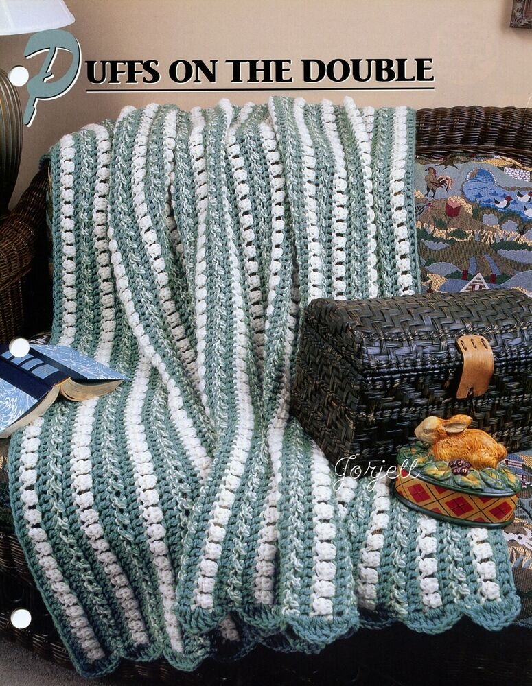 Crochet On The Double : Puffs on the Double Afghan ~ Quick 2-Strand Design, Annies crochet ...
