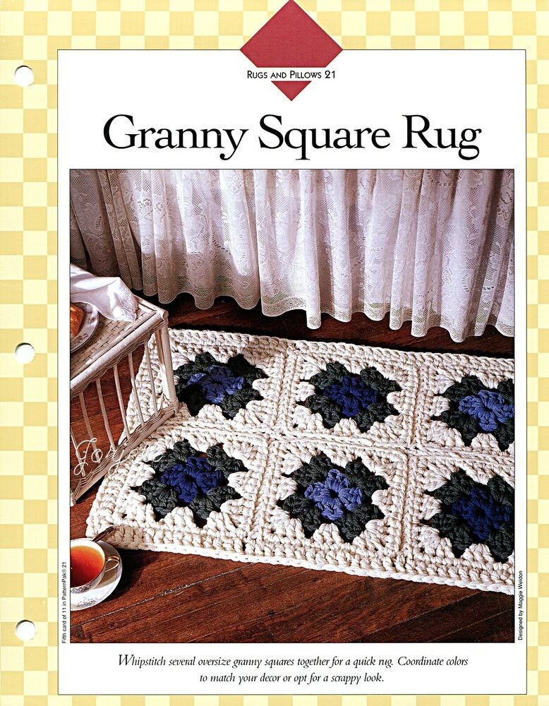 Crochet Granny Square Rug Patterns : Granny Square Rug ~ Quick Rug Design crochet pattern eBay
