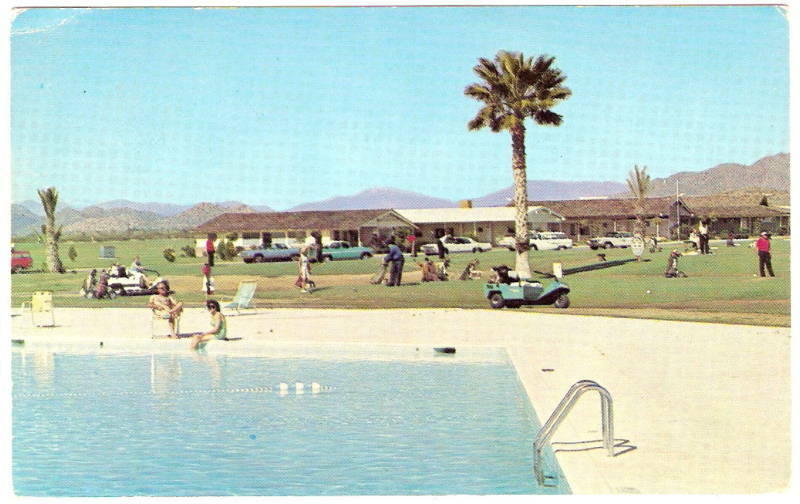 1960 S Apache Wells Trailer Park Mesa Az Arizona Golf Carts Golfers Vintage Pc Ebay