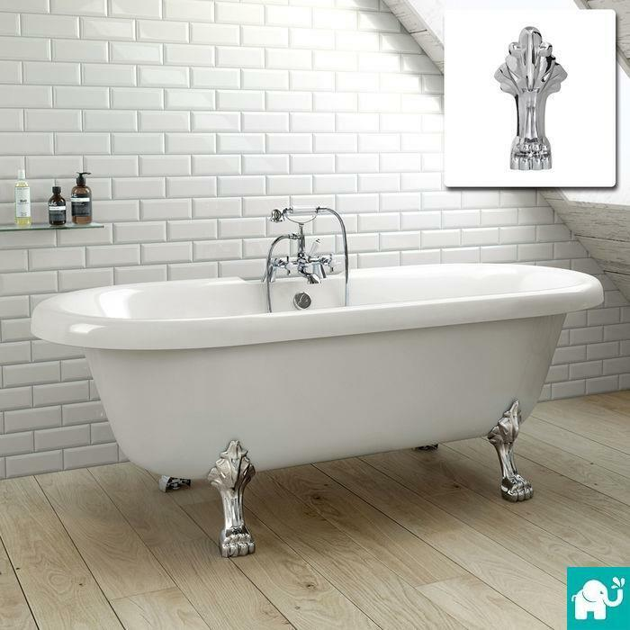 large traditional freestanding roll top bath tub br221 ebay