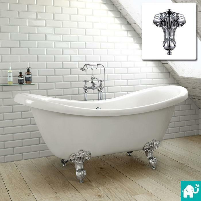 SLIPPER TRADITIONAL FREESTANDING ROLL TOP BATH TUB BR242 EBay