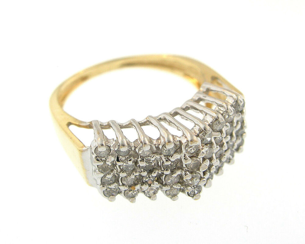 10k solid two tone gold fashion ring ebay