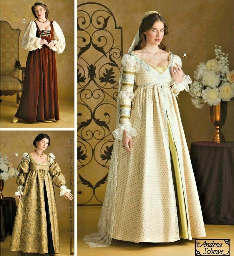 Renaissance Bridal Gown Sewing Pattern Princess Dress: Simp 3812 Misses Renaissance Ever After Pattern