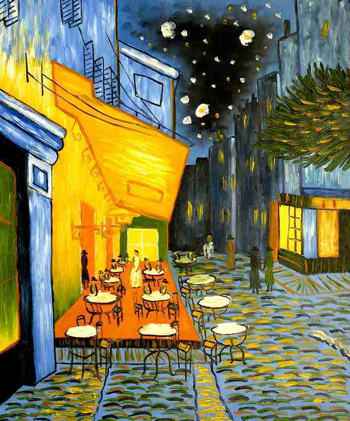 van gogh nachtcafe keilrahmenbild auf leinwand ebay. Black Bedroom Furniture Sets. Home Design Ideas