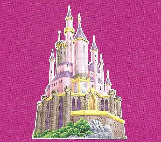 Disney princess deluxe castle applique mural dmm2507 ebay for Castle mural wallpaper