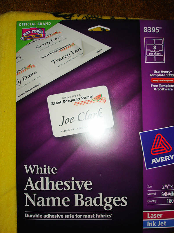 avery adhesive name badges labels 8395 72782083953