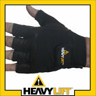 Deluxe Leather Weight Lifting Exercise Gym Gloves Small