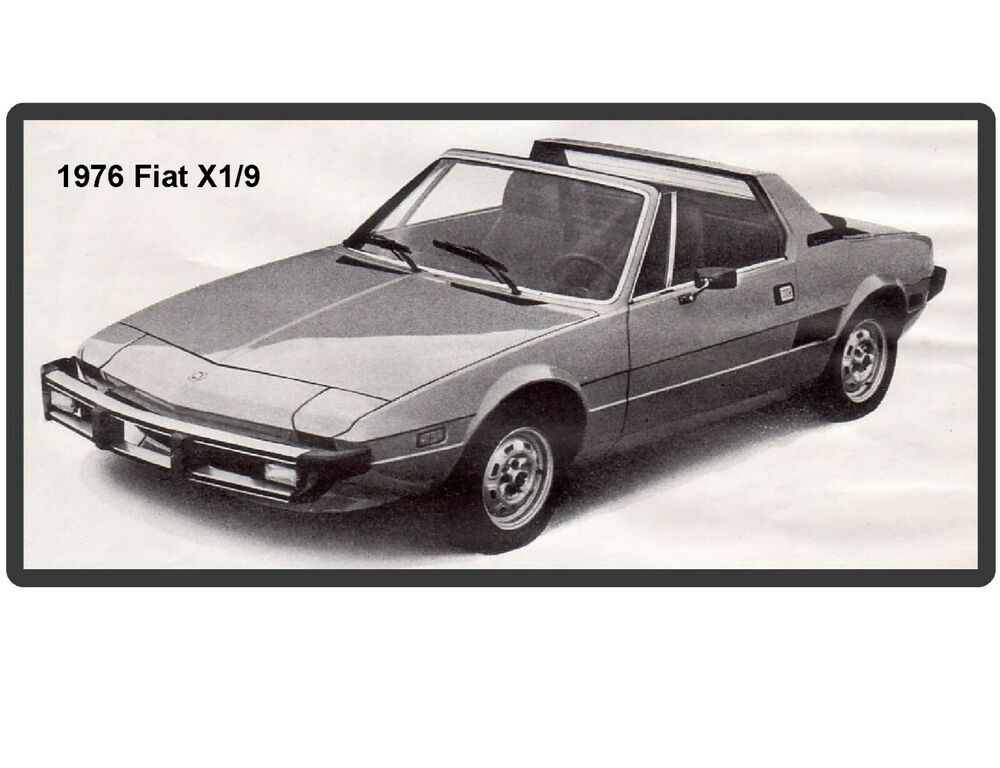 1976 fiat x1 9 refrigerator magnet ebay. Black Bedroom Furniture Sets. Home Design Ideas