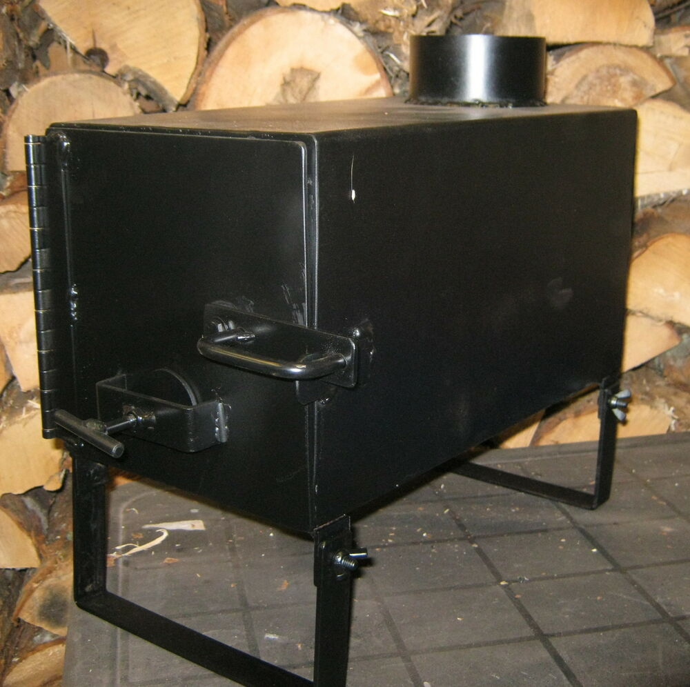 Ice fishing shanty wood stove outdoor heater cooker new ebay for Fish house heaters