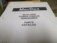Macdon 5000 Power Tongue Windrower Parts Catalog used