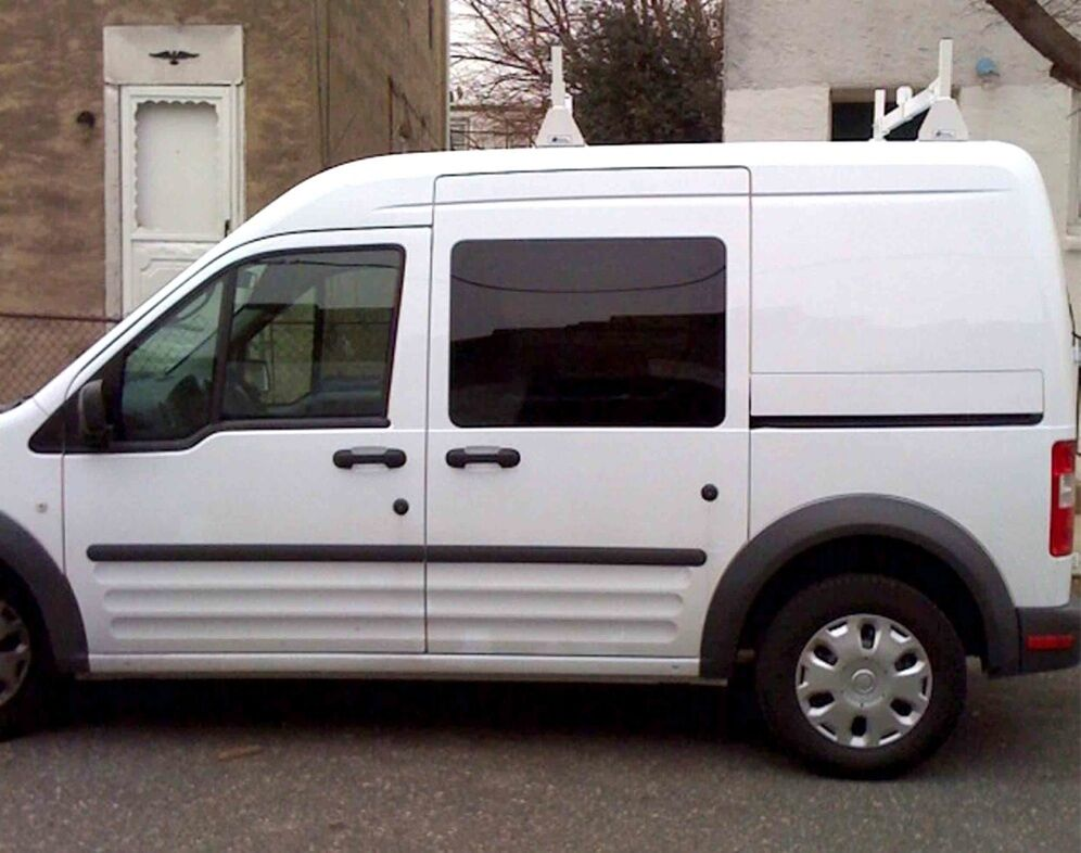 white steel 2 piece van rack ford transit connect usa made ebay. Black Bedroom Furniture Sets. Home Design Ideas