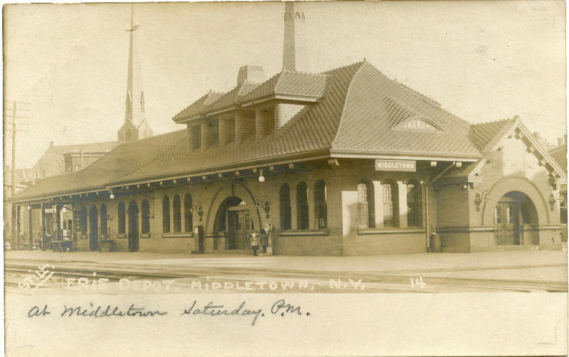 rppc ny middletown erie railroad station depot orange c ebay. Black Bedroom Furniture Sets. Home Design Ideas