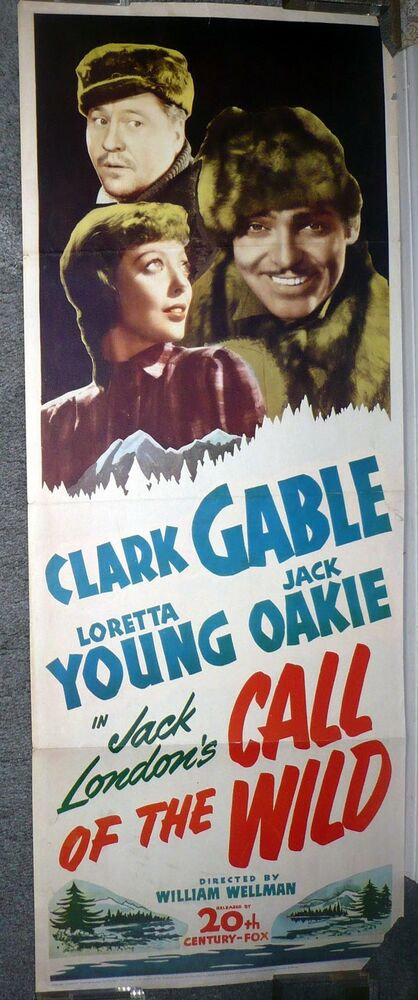 CALL OF THE WILD Movie Poster LORETTA YOUNG/CLARK GABLE